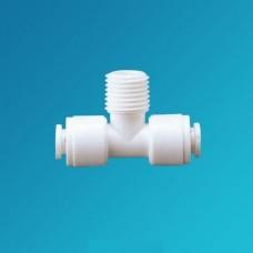 Фитинг тройник Organic MBT 0404, Коннектор 1/4 цанга – 1/4 наружная резьба – 1/4 цанга