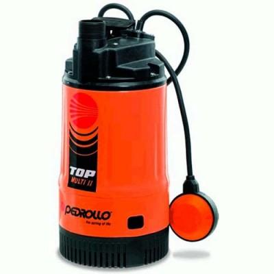 Насос Pedrollo Top Multi-2 погружной дренажный многоступенчатый для чистой воды с поплавковым выключателем