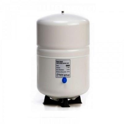 Бак Kaplya SPT 100 W, Резервуар металлический для обратного осмоса, фильтра, с основанием, 28 литров, белый