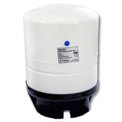 Бак Kaplya SPT 140 W, Резервуар металлический для обратного осмоса, фильтра, с основанием, 40 литров, белый