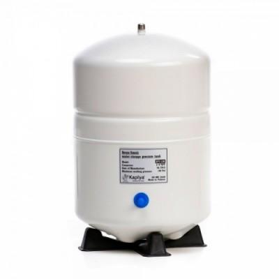 Бак Kaplya SPT 32 W, Резервуар металлический накопительный для обратного осмоса, фильтра с основанием, 8 литров, белый