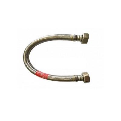 Шланг Tucai TAQ HG 1212 300 BB, 1/2, длина 300 мм, 90 С, 20 бар, гибкий, резьба внутренняя, оплётка из нержавеющей стали AISI 304