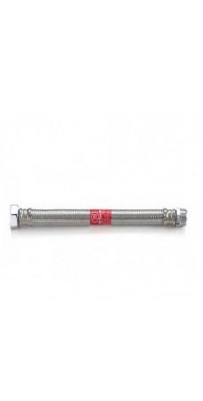 Шланг Tucai TAQ MG 1212 400 HB, 1/2, длина 400 мм, 90 С, 20 бар, гибкий, резьба наружная и внутренняя, оплётка из нержавеющей стали AISI 304