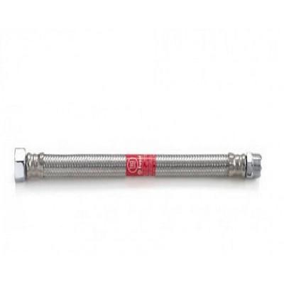 Шланг Tucai TAQ MG 1212 600 HB, 1/2, длина 600 мм, 90° С, 20 бар, гибкий, резьба наружная и внутренняя, оплётка из нержавеющей стали AISI 304