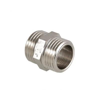 Ниппель Valtec 1/2 HH, фитинг резьбовой, переходник для соединения 1/2 дюйма, резьба наружная