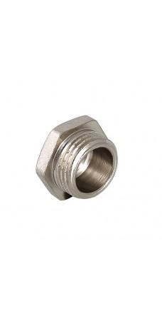 Пробка резьбовая Valtec 3/4 H, фитинг 3/4 дюйма, резьба наружная, никель хром