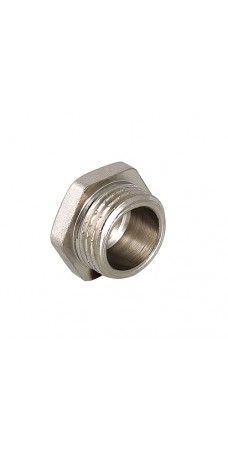 Пробка резьбовая Valtec 1 H, фитинг 1 дюйм, резьба наружная, никель хром