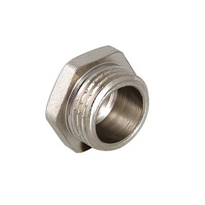Пробка резьбовая Valtec 1/2 H, фитинг 1/2 дюйма, резьба наружная, никель хром