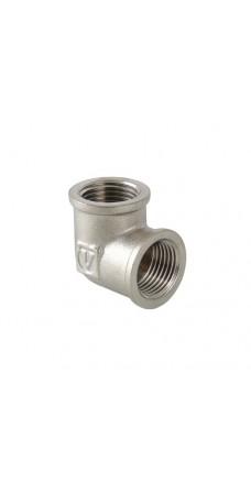 Уголок Valtec 1 BB, фитинг резьбовой угольник колено, 1 дюйм, резьба внутренняя