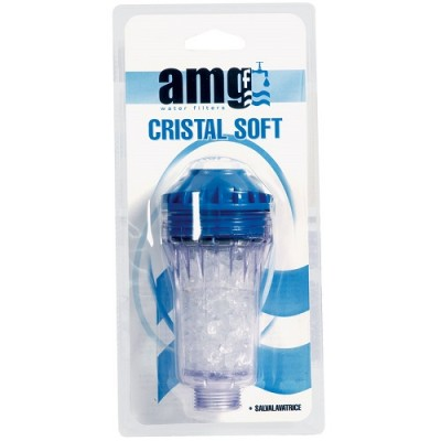 Фильтр для умягчения воды AMG Cristal Soft, Магистральный с метагексофосфатами для умягчения воды, резьба 3/4 дюйма