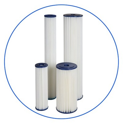 Картридж фильтра для воды Aquafilter FCCEL 20M10B, 10-ти дюймовый 10 Big Blue, 20 мкм, гофрированный полиэстер
