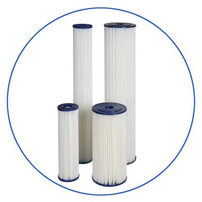 Картридж фильтра для воды Aquafilter FCCEL 20M20B, 20-ти дюймовый 20 Big Blue, 20 мкм, гофрированный полиэстер