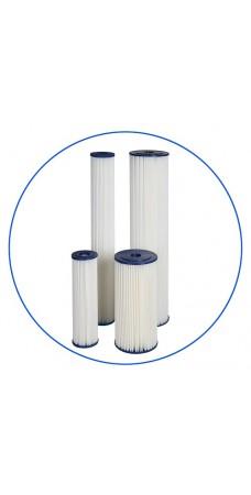 Картридж фильтра для воды Aquafilter FCCEL 10, 10-ти дюймовый, 10 мкм, гофрированный полиэстер