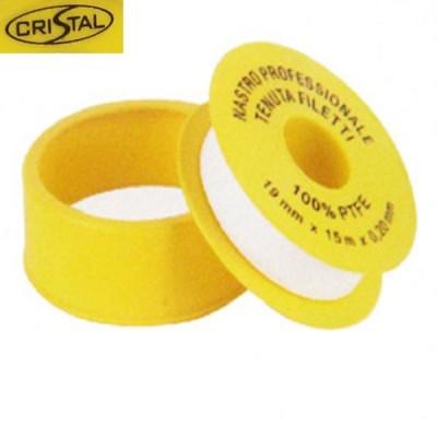 Фум лента Cristal S 1201, Тефлон для уплотнения резьбовых соединений, 19 мм. х 15 м. х 0,1 мм.