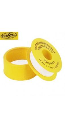 Фум лента Cristal S 1202, Тефлон для уплотнения резьбовых соединений, 12 мм. х 10 м. х 0,075 мм.