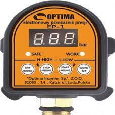 Реле давления Optima EP-1, Электронное, с защитой от сухого хода для автоматических станций водоснабжения, дисплей