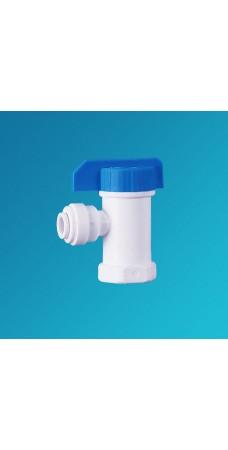 Кран шаровой угловой Organic CV 1144, вентиль для бака обратного осмоса, фильтра, 1/4 цанга – 1/4 внутренняя резьба