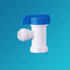 Кран шаровой угловой Organic CV 1164, вентиль для бака обратного осмоса, фильтра, 3/8 цанга – 1/4 внутренняя резьба