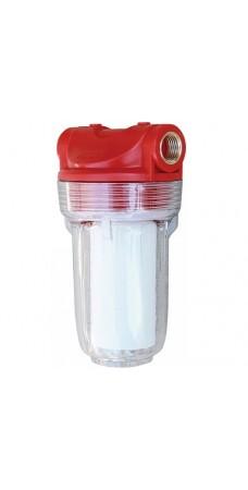 Фильтр для воды Bio+ Systems SL 05, Магистральный, 5 дюймов, резьба 1/2 дюйма, прозрачный, до 45° С, до 6 атм., картридж