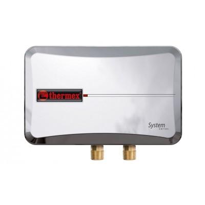 Водонагреватель проточный электрический Thermex System 1000, 220 В, 10 кВт, 5-7 л/мин, до 60°С, системный
